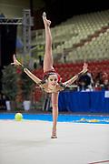 Camilla Palombarini from Ardor team during the Italian Rhythmic Gymnastics Championship in Padova, 25 November 2017.