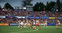 AMSTELVEEN -  volle tribunes  tijdens Belgie-Nederland (dames) bij de Rabo EuroHockey Championships 2017.  COPYRIGHT KOEN SUYK