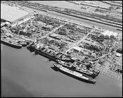 "Ackroyd 16187-5 ""Schnitzer Industries. Aerial of new vessel. August 9, 1969"" (NW Portland)"