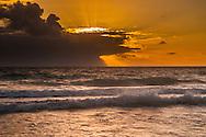 Sunrise off Kailua Beach, Oahu, Hawaii