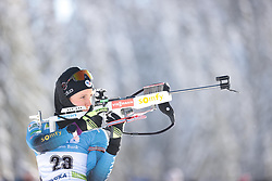 14.02.2021, Center Pokljuka, Pokljuka, SLO, IBU Weltmeisterschaften Biathlon, Sprint, Damen, im Bild chevalier bouchet (anais) (fra) // during womens Sprint competition of IBU Biathlon World Championships at the Center Pokljuka in Pokljuka, Slovenia on 2021/02/14. EXPA Pictures © 2021, PhotoCredit: EXPA/ Pressesports/ Frederic Mons<br /> <br /> *****ATTENTION - for AUT, SLO, CRO, SRB, BIH, MAZ, POL only*****
