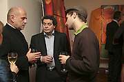 Andrej  Jeziorek, Michael Rogatchi and  Mark Seiltz, The Real Dream, private view for an exhibition of work by Michael Rogatchi. Cork St. London.  5 December 2006. ONE TIME USE ONLY - DO NOT ARCHIVE  © Copyright Photograph by Dafydd Jones 248 CLAPHAM PARK RD. LONDON SW90PZ.  Tel 020 7733 0108 www.dafjones.com