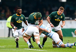 Durban. 180818. Warren Whiteley of South Africa  during the Rugby Championship match between South Africa and Argentina at Jonsson Kings Park in Durban, South Africa. Picture Leon Lestrade. African News Agency/ANA