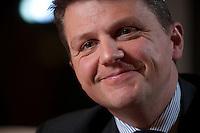 26 FEB 2009, BERLIN/GERMANY:<br /> Stephan Sturm, CFO Fresenius SE, waehrend einem Interview, nach der Preisverleihung des Best of European Business Awards, Franzoesische Botschaft<br /> IMAGE: 20090226-03-011