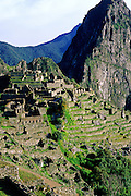 Machu Picchu ruins - Andes Mountains, Peru.