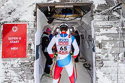 February 8, 2019 - Re, SWEDEN - 190208 Sandro Simonet of Switzerland at a men's downhill training session during the FIS Alpine World Ski Championships on February 8, 2019 in re..Photo: Joel Marklund / BILDBYRN / kod JM / 87852 (Credit Image: © Joel Marklund/Bildbyran via ZUMA Press)