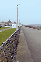Victorian railings on the seafront in wintertime at the seaside town of Bray in Wicklow Ireland