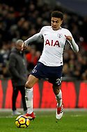 Delle Alli of Tottenham Hotspur in action. Premier league match, Tottenham Hotspur v Manchester Utd at Wembley Stadium in London on Wednesday 31st January 2018.<br /> pic by Steffan Bowen, Andrew Orchard sports photography.