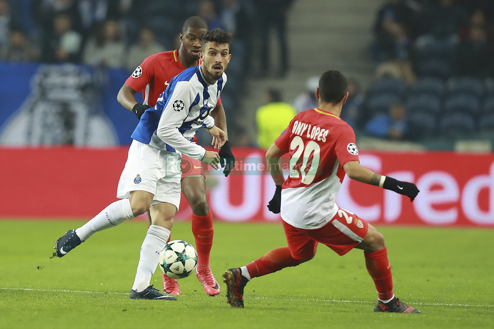 December 6, 2017 - Na - Porto, 06/12/2017 - Football Club of Porto received, this evening, AS Monaco FC in the match of the 6th Match of Group G, Champions League 2017/18, in Estádio do Dragão. Almamy Touré; Alex Telles; Rony Lopes  (Credit Image: © Atlantico Press via ZUMA Wire)