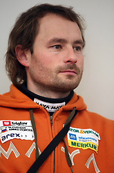 Matej Oblak, Teams, Coordinator at the press conference of Slovenian biathlon team before the World Chamionship in Sweden, ÷stersund, in Ljubljana on February 5, 2008. (Photo by Vid Ponikvar / Sportal Images).
