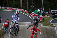 #133 (CRISTOFOLI Roberto) ITA during round 4 of the 2017 UCI BMX  Supercross World Cup in Zolder, Belgium.