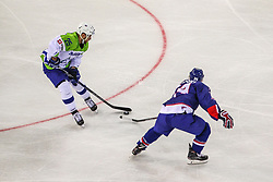 Robert Sabolic of Slovenia during Ice Hockey match between National Teams of Great Britain and Slovenia in Round #1 of 2018 IIHF Ice Hockey World Championship Division I Group A, on April 22, 2018 in Budapest, Hungary. Photo by David Balogh / Sportida