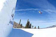 Gus Kenworthy during Ski Slopestyle Practice at 2014 X Games Aspen at Buttermilk Mountain in Aspen, CO. ©Brett Wilhelm/ESPN