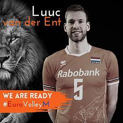 Luuc van der Ent of Netherlands, Photoshoot selection of Orange men's volleybal team season 2021on may 11, 2021 in Arnhem, Netherlands (Photo by RHF Agency/Ronald Hoogendoorn)