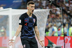 July 1, 2018 - Nizhny Novgorod, Russia - Ivan Perisic of Croatia national team reacts during the 2018 FIFA World Cup Russia Round of 16 match between Croatia and Denmark on July 1, 2018 at Nizhny Novgorod Stadium in Nizhny Novgorod, Russia. (Credit Image: © Mike Kireev/NurPhoto via ZUMA Press)