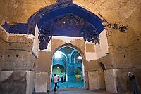 Iran, Tabriz, 23.08.2016: Blaue Moschee, Masdjed-e Kabud, Blue Mosque, Tabriz, Provinz Ost-Aserbaidschan, Nordwest-Iran.
