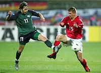 Fotball , mars 2005, Slovenia - Tyskland, v.l. v.l. Andrej KOMAC, Thomas HITZLSPERGER