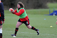 Adam Jones of Wales in action. Wales rugby team training at the Vale, Hensol near Cardiff, South Wales on Tuesday 12th March 2013.  the team are training ahead of the final RBS Six nations match against England this weekend. pic by  Andrew Orchard, Andrew Orchard sports photography,