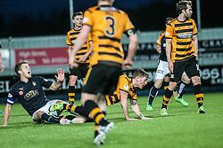 Falkirk's Will Vaulks hurt. <br /> Falkirk 5 v 0 Alloa Athletic, Scottish Championship game played at The Falkirk Stadium. © Ross Schofield