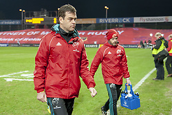 March 23, 2019 - Limerick, Ireland - Munster Head Coach Johann van Graan during the Guinness PRO14 match between Munster Rugby and Zebre at Thomond Park Stadium in Limerick, Ireland on March 23, 2019  (Credit Image: © Andrew Surma/NurPhoto via ZUMA Press)