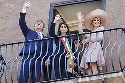 June 20, 2017 - Rome, Italy - Mayor of Rome Virginia Raggi (C) meets the King Willem Alexander and the Queen Maxima of the Netherlands at Capitol Hill in Rome, Italy on June 20, 2017. The King and Queen of the Netherlands are in Italy for a 3 day state visit. (Credit Image: © Giuseppe Ciccia/Pacific Press via ZUMA Wire)