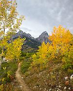 Taggert Lake, Grand Tetons, Autumn Color, Reflection, Autumn Color,