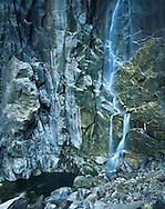 A Close Up Section Of Bridal Veil Falls, Yosemite National Park, California, USA