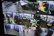 Nederland, Nijmegen, 5-9-2008Monitor met beelden van beveiligingscamera's op een school.Foto: Flip Franssen/Hollandse Hoogte
