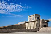 Sepulveda Dam, Sepulveda Basin Wildlife Reserve, San Fernando Valley, Los Angeles, California, USA