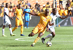 Chippa United FC player Linda Mntambo battle for the ball with Kaizer Chiefs player Willard Katsande during the ABSA premiership at FNB stadium <br />Picture: Itumeleng English/African News Agency (ANA)<br />07.04.2018