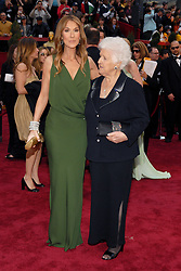 Celine Dion and her mother Therese Dion arriving at the 79th Academy Awards held, at the Kodak Theater on Hollywood Boulevard in Los Angeles, CA, USA on February 25, 2007. Photo by Hahn-Khayat-Douliery/ABACAPRESS.COM