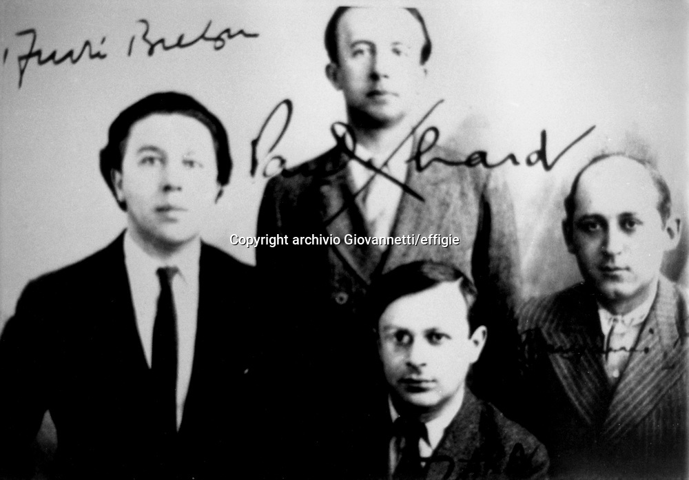 André Breton, Paul Eluard, Tristan Tzara, Benjamin Peret<br />archivio Giovannetti/effigie