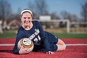Erin Herbert, 17, a junior at Sacred Heart Academy, plays center midfield for the school's  soccer team. Jan. 28, 2016