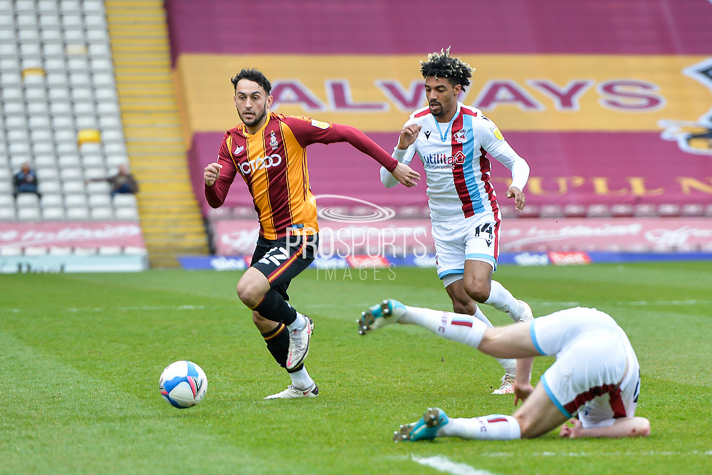 Levi Sutton during the EFL Sky Bet League 2 match between Bradford City and Scunthorpe United at the Utilita Energy Stadium, Bradford, England on 1 May 2021.