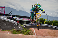 #93 (STEVAUX CARNAVAL Priscilla) BRA at the 2016 UCI BMX World Championships in Medellin, Colombia.