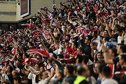 October 24, 2018 - Madrid, Madrid, SPAIN - Supporters of Rayo Vallecano celebrating a goal during the spanish league, La Liga, football match between Rayo Vallecano and Athletic de Bilbao on October 24, 2018 at Estadio de Vallecas in Madrid, Spain. (Credit Image: © AFP7 via ZUMA Wire)
