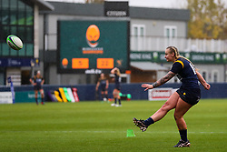 Vicky Foxwell of Worcester Warriors Women adds the extra points for a conversion - Mandatory by-line: Nick Browning/JMP - 24/10/2020 - RUGBY - Sixways Stadium - Worcester, England - Worcester Warriors Women v Wasps FC Ladies - Allianz Premier 15s