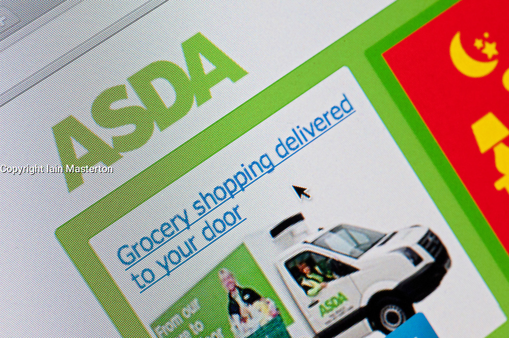 Detail of screenshot from website of Asda home shopping and delivery service