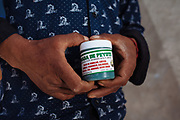Ointments of peyote and marijuana to relieve the pain.