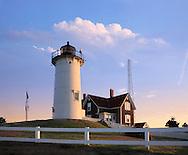 Early Morning At The Nobska Point Light, Woods Hole, Cape Cod, Massachusetts, USA