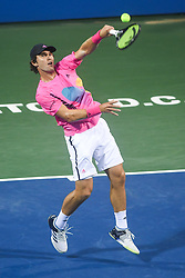 August 2, 2018 - Washington, D.C, U.S - MISCHA ZVEREV hits an overhead during his 3rd round match at the Citi Open at the Rock Creek Park Tennis Center in Washington, D.C. (Credit Image: © Kyle Gustafson via ZUMA Wire)