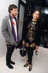 JAMES JAGGER and STELLA SCHNABEL at an exhibition of paintings by artist Rene Richard at the Scream Gallery, Bruton Street, London on 3rd April 2008.<br /><br />NON EXCLUSIVE - WORLD RIGHTS