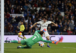January 24, 2019 - Madrid, Madrid, Spain - Alvaro Odriozola (Real Madrid) seen in action during the Copa del Rey Round of quarter-final first leg match between Real Madrid CF and Girona FC at the Santiago Bernabeu Stadium in Madrid, Spain. (Credit Image: © Manu Reino/SOPA Images via ZUMA Wire)