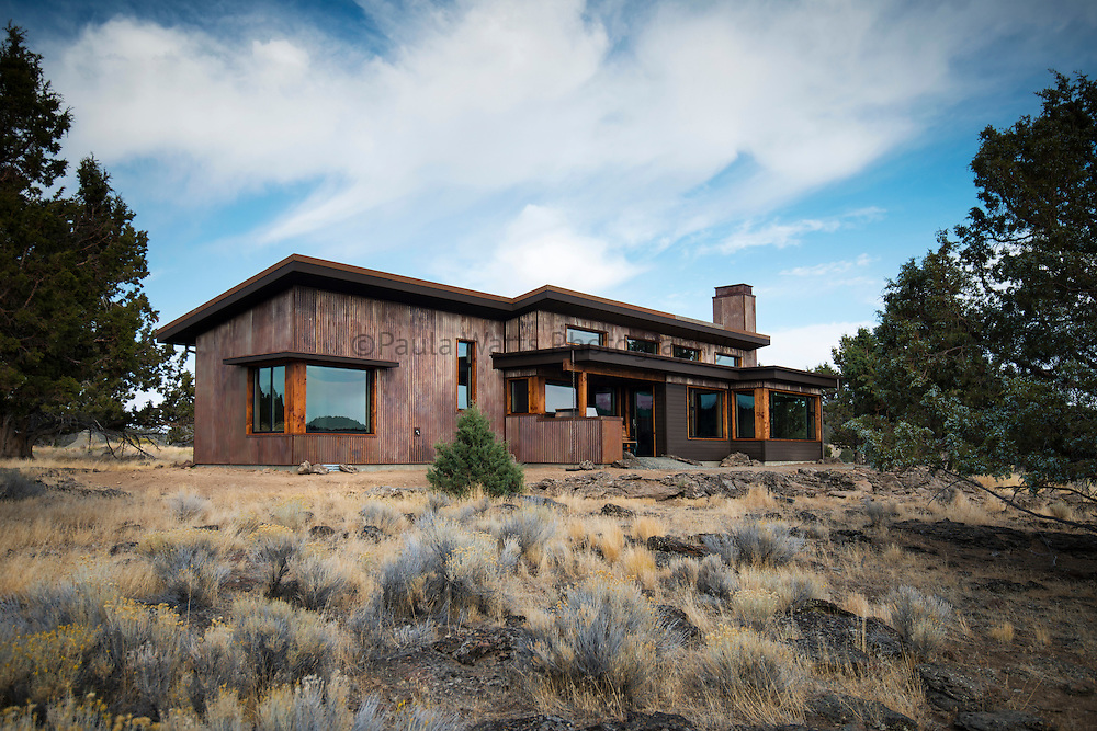 Modern Architecture with high desert natural landscaping