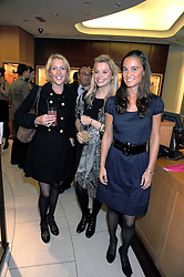 Left to right, DAISY BLOUNT sister of singer James Blunt, LAUREN GREEN and PIPPA MIDDLETON at a party hosted by Links of London to launch their new Driver Chicane Chronograph Watch held at Lonks, Sloane Square, London on 24th September 2008.