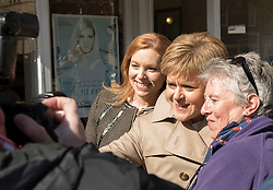 Pictured: First Minister Nicola Sturgeon drops in for morning tea at Favers Cafe, Portobello High Street<br /> <br /> <br /> © Jon Davey/ EEm