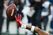 San Francisco 49ers defensive back Adrian Colbert (38) just misses an interception thrown by the Jacksonville Jaguars at Levi's Stadium in Santa Clara, Calif., on December 24, 2017. (Stan Olszewski/Special to S.F. Examiner)