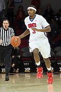 DALLAS, TX - DECEMBER 17: Sterling Brown #3 of the SMU Mustangs brings the ball up court against the Hampton Pirates on December 17, 2015 at Moody Coliseum in Dallas, Texas.  (Photo by Cooper Neill/Getty Images) *** Local Caption *** Sterling Brown