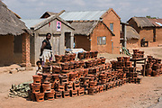 Clay stoves for sale<br /> Hauts plateaux<br /> Central Madagascar<br /> MADAGASCAR