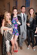 NATALIE JOEL; SASKIA BOXFORD; HUGO TAYLOR; MELISSA MILLS, Cartier Tank Anglaise launch. Kensington Palace Orangery, London.  19 April 2012.